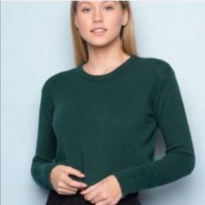 Brandy Melville Knit Pullover Sweater Forest Green